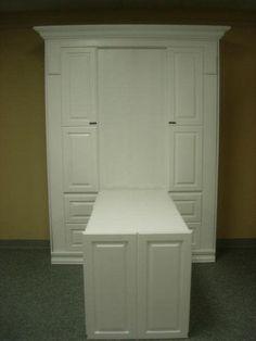 White Smithsonian Murphy Bed w/Desk
