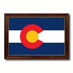 Colorado State Flag Giclee On Canvas Gift Idea Office Home Wall Décor Bedroom Livingroom Masteroom Gameroom ManCave Bar Housewarming Birthday Decoration Art AllChalkboard http://www.amazon.com/dp/B00V2UIF68/ref=cm_sw_r_pi_dp_6vZIvb1BDVWSD