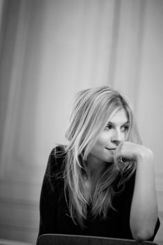 Black and White Photography Portrait of Clemence Poesy