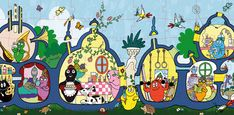 I loved the Barbapapa house. Name Decorations, Animation, Vintage Toys, Cute Art, Cartoon Characters, Kids Playing, Childhood Memories, Really Cool Stuff, Childrens Books