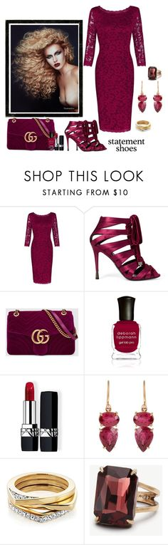 """""""Statement Shoes"""" by glitterlady4 ❤ liked on Polyvore featuring Tom Ford, Gucci, Deborah Lippmann, Christian Dior, Irene Neuwirth and Ann Taylor"""