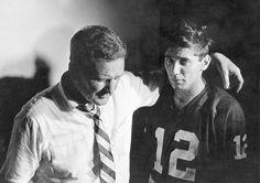Coach Bryant and Joe Namath