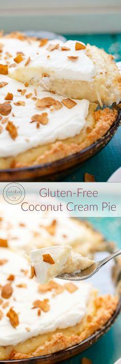 Gluten-Free Coconut Cream Pie   http://thecookiewriter.com   #coconut #glutenfree #vegetarian #dessert #macaroon