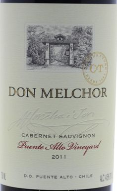 2011 Concha y Toro Cabernet Sauvignon Don Melchor