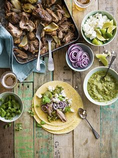 Carnitas are the next step up from tacos. Traditionally cooked slowly in fat, the meat is meltingly tender. This recipe for slow-cooked pork carnitas with tomatillo salsa is a lighter version. Buy tomatillos from mexgrocer.co.uk