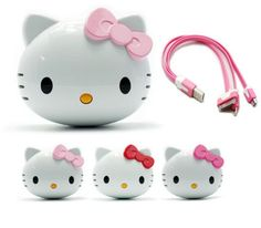 Power Bank : Hello Kitty external battery for all type Smart Phone Sale Promotion, Kawaii, Cell Phone Accessories, Charger, Hello Kitty, Smartphone, Make It Yourself, Type, Phones