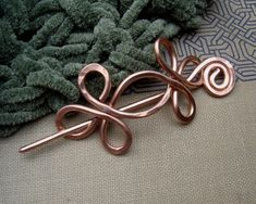 Copper Shawl Pin / Hair Pin / Scarf Pin by nicholasandfelice, $18.00