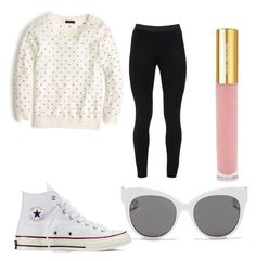"""#42"" by holly-loves-cats ❤ liked on Polyvore featuring beauty, J.Crew, Peace of Cloth, Converse, Blanc & Eclare and Isaac Mizrahi"
