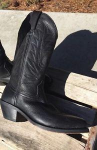 Durango Womens Black Cowboy Boots RD 4100 11 inch Size 6M Mint Free SHIP   eBay