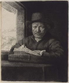 Self Portrait Drawing at a Window, 1648 | Museum of Fine Arts, Boston