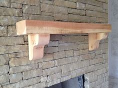 Cedar Mantle - This is how our unfinished cedar mantle looks. So cool!