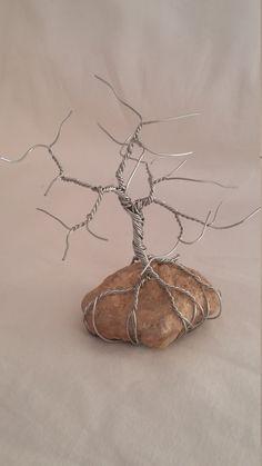 Wire Art Tree Sculpture Mini Silver Bonsai Tree by Levonair                                                                                                                                                                                 Más