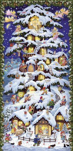 en Anglais Vermont Christmas Company Calendrier de lAvent Elfes de Village