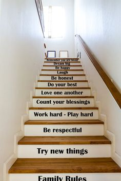 Stairs Twas the Night Before Christmas, Stair Word Decals, Vinyl Stair Stickers, Removable Vinyl, St