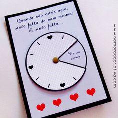 """DIY: Cartão """"Sinto sua falta o tempo inteiro"""""""