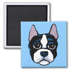 #Cute dog Boston Bull Terrier puppy Magnet - #boston #terrier #puppy #dog #dogs #pet #pets #cute #bostonterrier