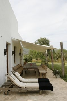 Ibiza finca, designed by hip house ibiza, shade idea for moms house #terrace #outdoor #home