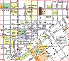 map of San Francisco Union Square Shopping Map