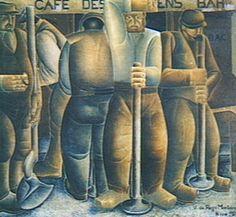 Os Calceteiros 1924 | Vicente do Rego Monteiro óleo sobre tela, c.i.d. 145.00 x 165.00 cm