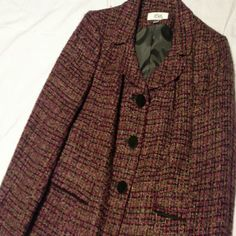 LE SUIT TWEED BLAZER! BRAND NEW!! Burgandy tweed original tag 240.00 Jackets & Coats Blazers