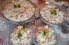 Příprava receptu Jednoduchý svěží těstovinový salát, krok 3 No Salt Recipes, Potato Salad, Salads, Food And Drink, Potatoes, Meat, Chicken, Cooking, Ethnic Recipes