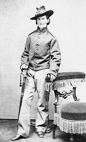 Francis Clayton disguised as a man to serve in the Civil War with artillery and cavalry units in Missouri