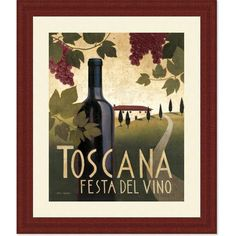 Found it at Wayfair - 'Wine Festival I' by Marco Fabiano Framed Vintage Advertisement