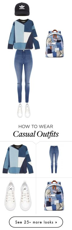 """""""Casual outfit for spring"""" by indee2005 on Polyvore featuring Victoria, Victoria Beckham, Jane Norman, adidas Originals and Marc Jacobs"""