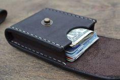 Cuero hombres billetera cartera de cuero tarjeta por sergklim