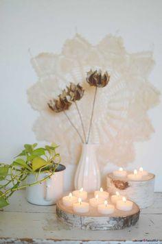 Birch Wood Tealight Holder - http://www.homeandbeautiful.com/living/birch-wood-tealight-holder.html