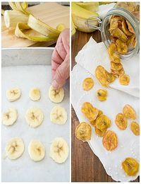 Nem acredito que é saudável!: Banana desidratada sem açúcar. Sugar free banana chips