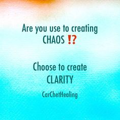 Clarity over Chaos • Third-Eye • Brow Chakra • Are you consistently surrounded by chaos ⁉️ Your life DOES NOT need to be ruled by craziness! It is your responsibility to introduce fresh perspectives to initiate personal change. Clarity of mind enhances this process...Find out more at CarChetHealing.com ••• #Clarity #Chaos #Crazy #Chaotic #Change #Chakra #Chi #Qi #ThirdEye #BrowChakra #CreateClarityNotChaos