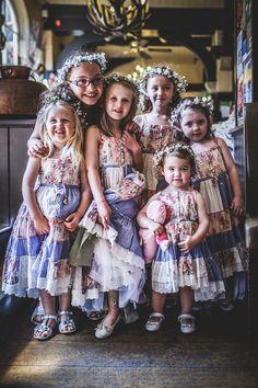 Colourful Festival Wedding Flower Girls http://www.pixiesinthecellar.co.uk/