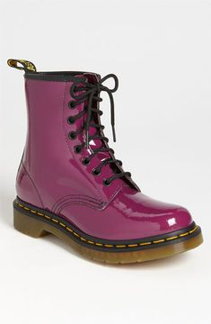 Dr. Martens '1460' Boot Womens Purpler Patent Leather Size 5 M 5 M on shopstyle.com