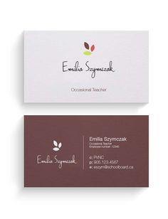 My english tutoring business card patronusbookworm pinterest business card teacher colourmoves