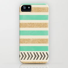 Buy MINT AND GOLD STRIPES AND ARROWS by Allyson Johnson as a high quality iPhone & iPod Case. Worldwide shipping available at Society6.com. Just one of…