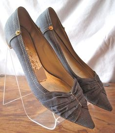MIU MIU sz 37 1/2, Denim Blue Ballet Flats by PRADA sz 7-7.5, on ebay