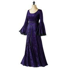 "my wedding shower dress (velvet purple) ""gothic gown"" - wear to ren faire as well"