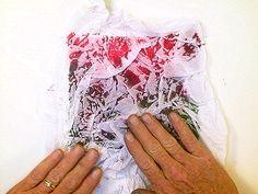 Watercolor technique:  tissue paper textures  #journal #art #watercolor