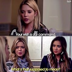 """Pretty Little Liars """"The Silence of E. Lamb"""" - Ali, Hanna and Emily Pretty Little Liars Quotes, Pretty Litle Liars, Pretty Little Liars Seasons, Pretty Girls, Pll Quotes, Pll Memes, Movie Quotes, Cody Christian, Lights Camera Action"""