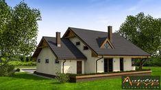 O casa de vis cu 4 dormitoare mansarda si garaj - proiect detaliat cu fotografii Home Fashion, Portal, Shed, Outdoor Structures, Cabin, House Styles, Home Decor, Decoration Home, Room Decor