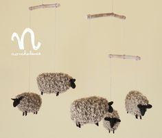 Creator: nonchalance Creema モフモフ毛糸の#羊#モビール