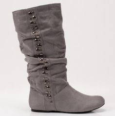 Studded Slouchy Boot
