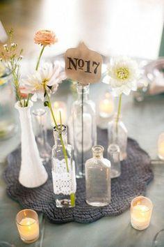Decorar con botellas de cristal - Blog de bodas de Una Boda Original