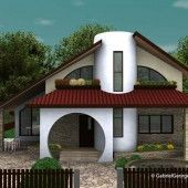 Casa cu etaj 10   Proiecte de case personalizate   Arhitect Gabriel Georgescu & Echipa Modern Tv Room, Architectural House Plans, Kerala House Design, Kerala Houses, Luxury House Plans, Construction, Mansions, House Styles, Outdoor Decor
