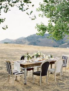 outdoor party elegant black & white!!