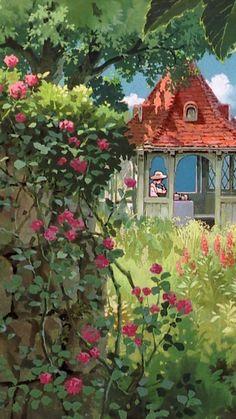 Studio Ghibli Background, Art Background, Aesthetic Anime, Aesthetic Art, Art Studio Ghibli, Japon Illustration, Anime Scenery Wallpaper, Wallpaper Aesthetic, Art Anime