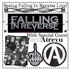 """seeing falling in reverse + atreyu live! // kaci"" by outcast-tips ❤ liked on Polyvore featuring art and kaciot"