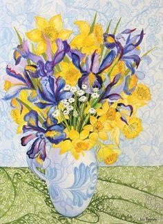 Iris and Daffodils © Joan Thewsey SBA