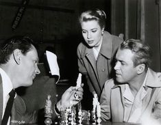 Grace Kelly and James Stewart on set of Rear Window Golden Age Of Hollywood, Vintage Hollywood, Classic Hollywood, Alfred Hitchcock, Camille Gottlieb, St Ignatius, The Searchers, Princess Grace Kelly, Rear Window